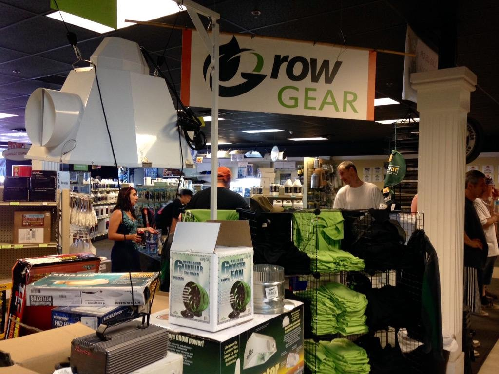 """Indoor growing and hydroponic supply stores, very busy today.  Managers say first time pot growers are """"curious"""""""