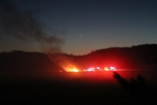 Reported helicopter crash near Newberg (Photo: David Gadsen)