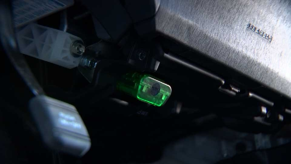 OReGO uses a small device that plugs in under the dashboard of your car