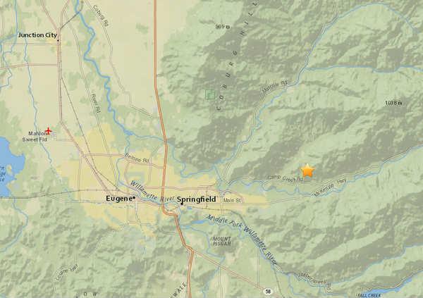 4.2 magnitude earthquake reported near Eugene