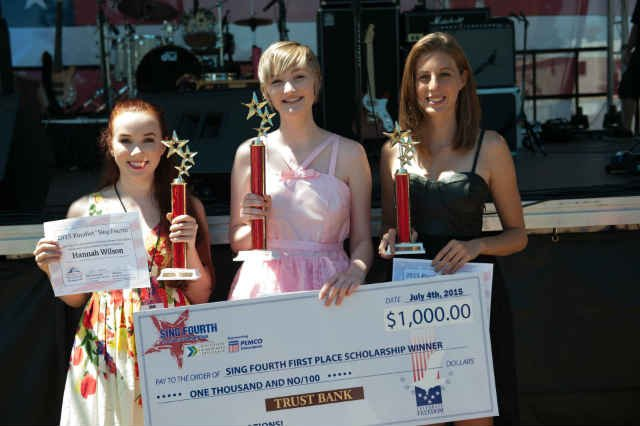 Sing 4th 2015 Winners: Hannah Wilson, Tirza Meuljic, Mia Josberger (Photos: Craig Clark)