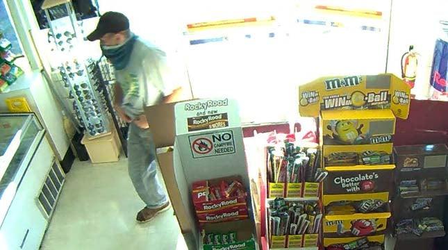 Surveillance image of Beaverton Plaid Pantry robbery suspect (Images: Beaverton PD)