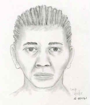 Sketch of suspect accused of scamming elderly victims. (Image: Portland Police Bureau)