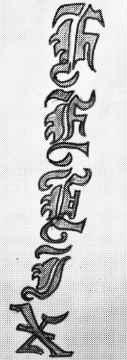 Felix in stylized lettering