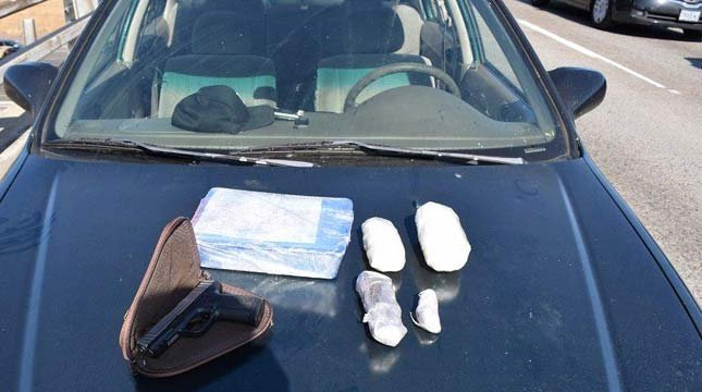 Meth, heroin and gun seized during traffic stop in SE Portland (Photo: PPB)