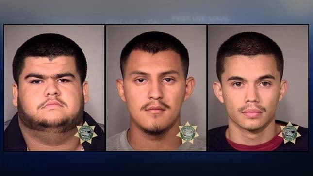 Jose Olguin, Jovanny Luna, Roberto Flores, jail booking photos