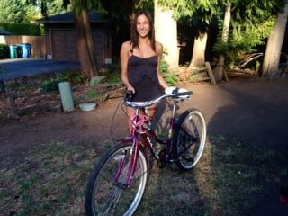 Krystal Grover and her bicycle.