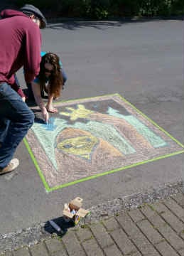 City of Gresham aims to break the Guinness World Record for the most chalk drawings ever put to pavement. (Source: City of Gresham)