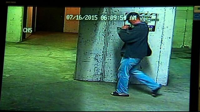 Camera catches man breaking into storage lockers