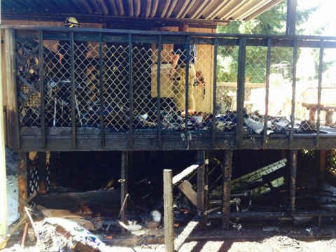 Mobile home fire (Courtesy: Clackamas Fire Dist. #1)