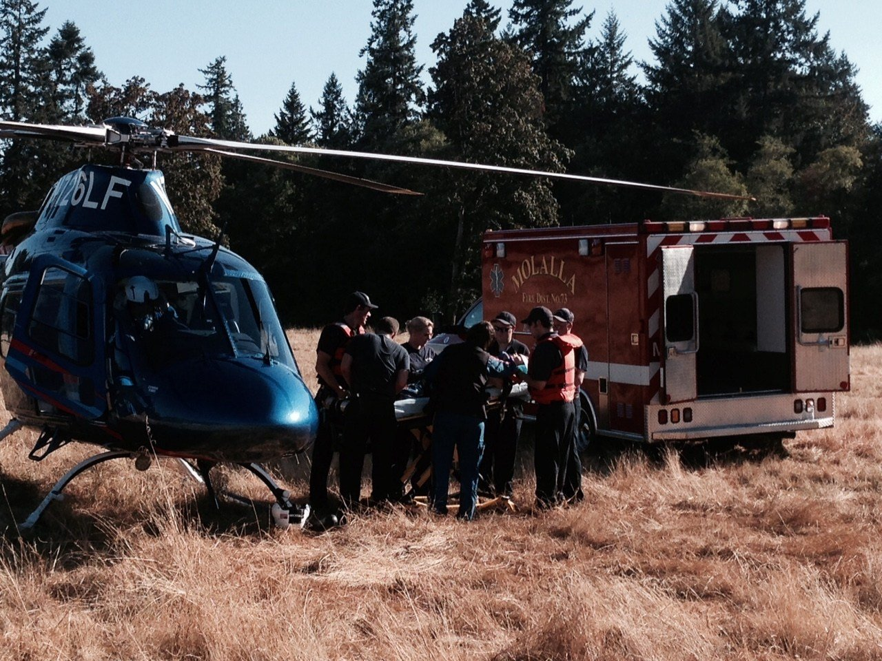 Life Flight took woman to OHSU with serious injuries
