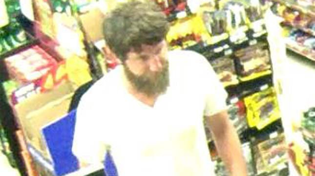 Surveillance image of Plaid Pantry attempted robbery suspect released by Portland Police Bureau.