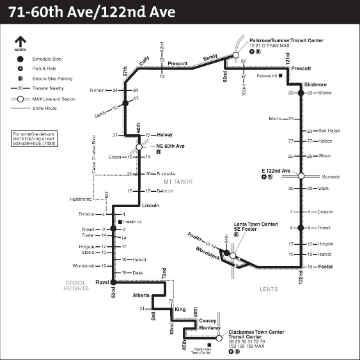 TriMet bus route