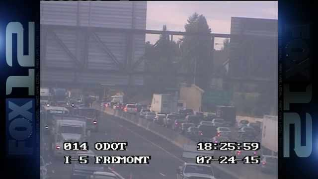 ODOT photo of I-5 traffic after crash
