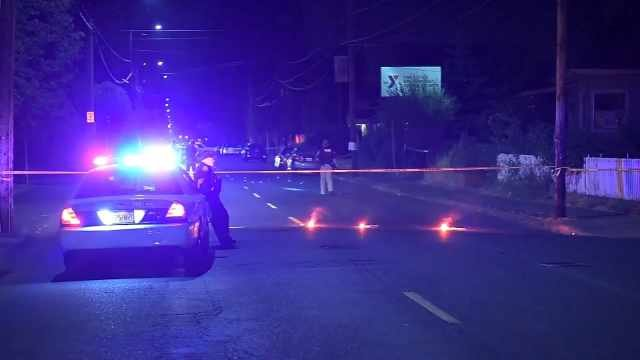 Hit-and-run crash scene at SE 60th and Holgate on July 4, 2015