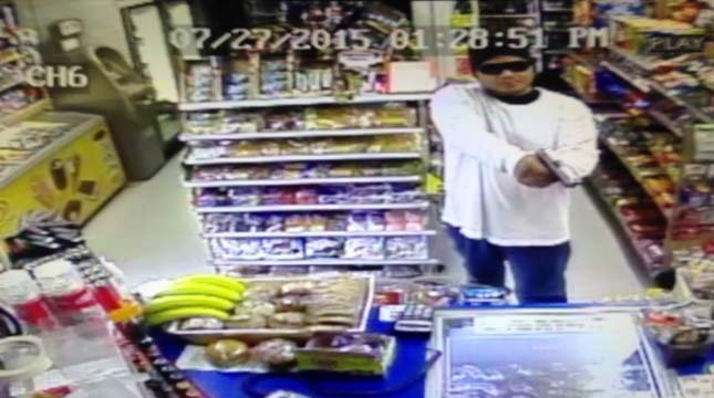Surveillance image of Forest Grove armed robber.