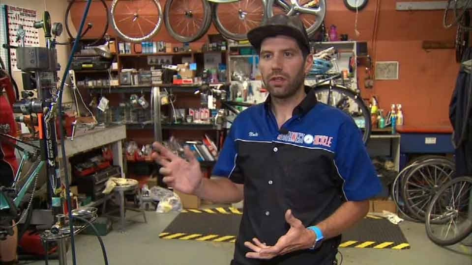 Southwest Bicycle employee Nathan Gibson
