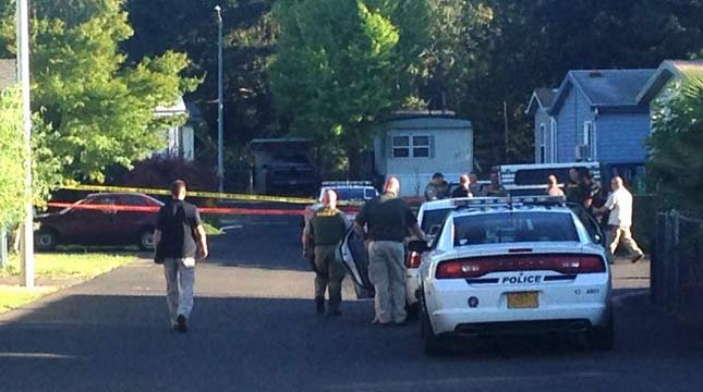 Scene of deadly shooting at Damascus mobile home park