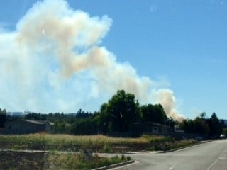 The plume seen from Keizer, courtesy of Kelsey Watts.