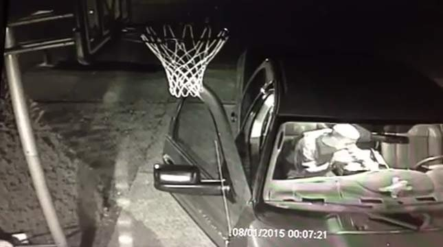 Surveillance image of car prowl from home security system, released by Camas Police Department
