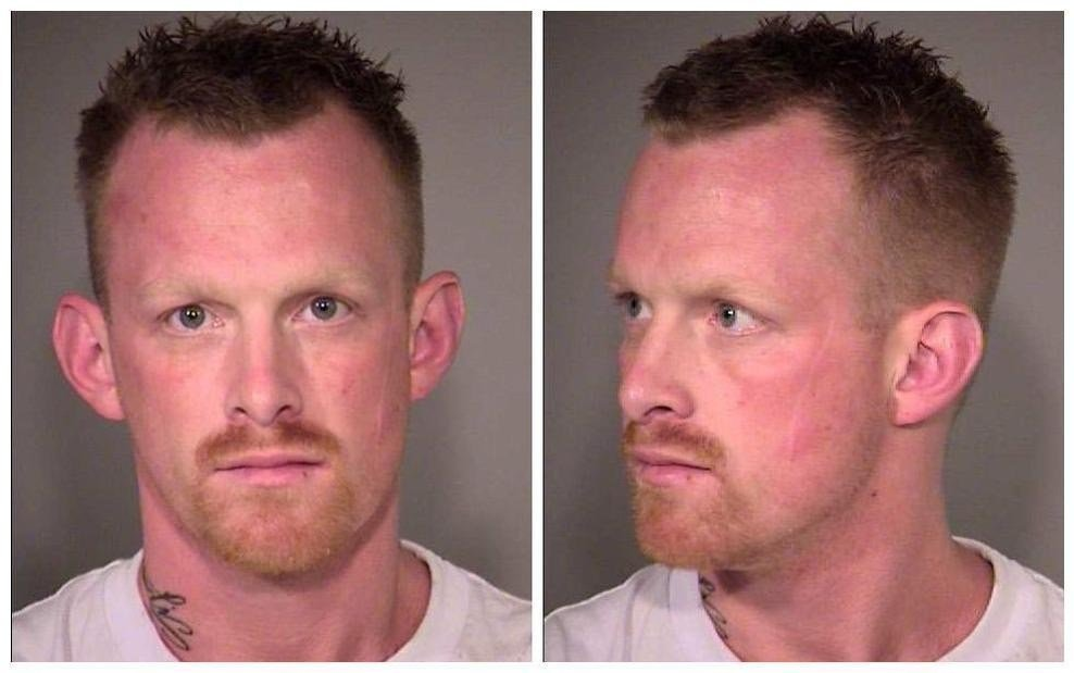 Daniel Spillers' booking photo.
