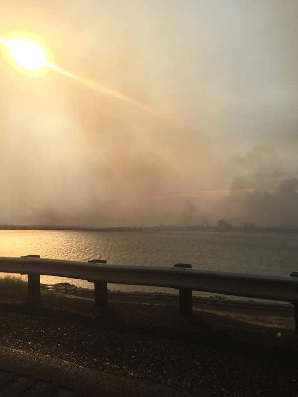 Viewer photo of Roosevelt brush fire from Dan Hawkins.