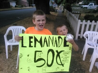 The lemonade stand also helping in the effort.