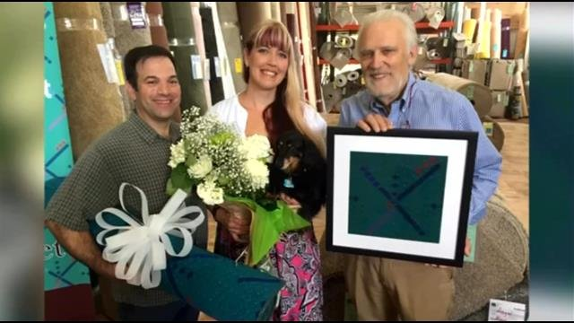 Couple getting married on patch of PDX carpet