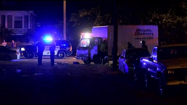 Delivery truck collides with motorcycle in N. Portland