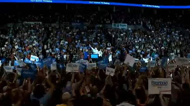The Moda Center was full Sunday for the presidential campaign rally of Bernie Sanders.