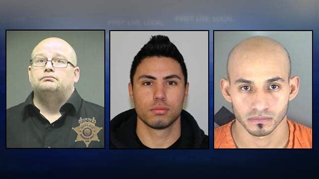 Steven Toth, Victor Moreno-Hernandez, Yahir Muniz (jail booking photos)