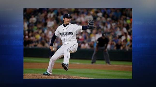 (AP Photo/Ted S. Warren). Seattle Mariners starting pitcher Hisashi Iwakuma throws to a Baltimore Orioles batter during the fifth inning of a baseball game, Wednesday, Aug. 12, 2015, in Seattle.
