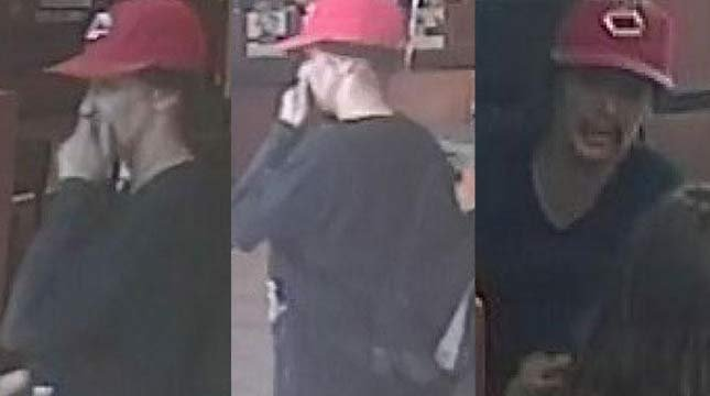 Surveillance images of Happy Valley bank robbery suspect. (Images from Clackamas Co. Sheriff's Office)