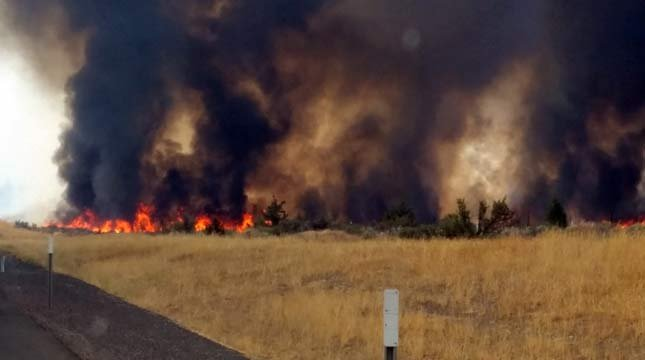 County Line 2 Fire (Photo: ODOT)