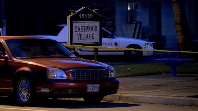Shooting scene outside Eastwood Village Apartments (2014 file image)