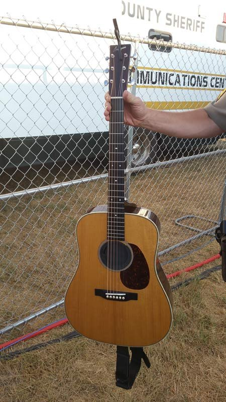 Guitar stolen from Rascal Flatts at the Willamette Country Music Festival was recovered by the Linn Co. Sheriff's Office (Photo: Linn Co. Sheriff's Office)