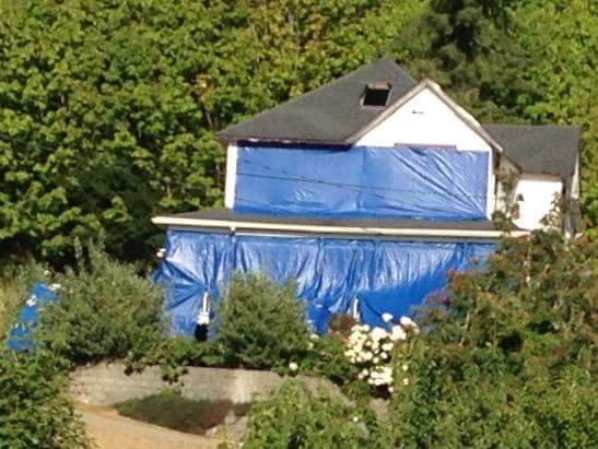 The 'Goonies' house in Astoria is covered in tarps due to the homeowner becoming overwhelmed by tourists, some of whom have been less than respectful of the famous property