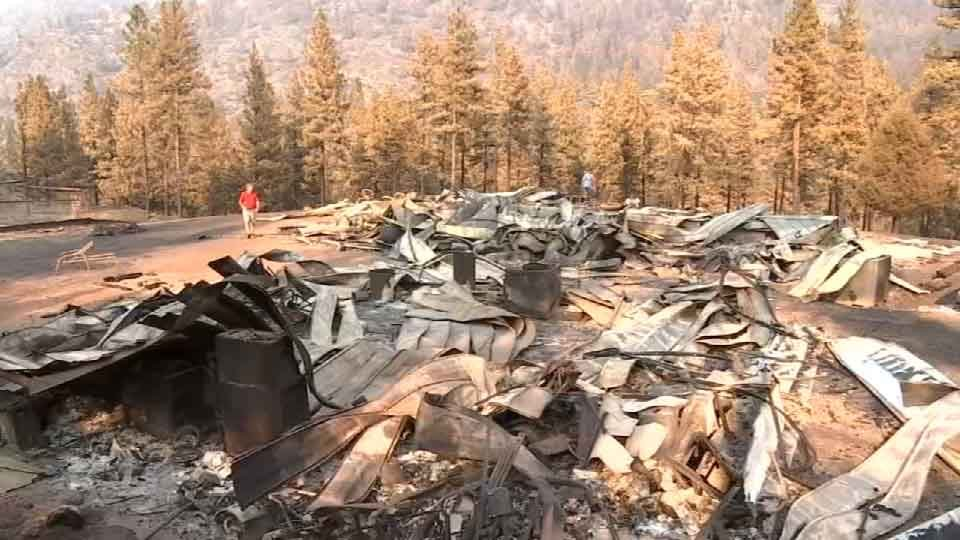 The Canyon Creek Complex fire has burned more than two dozen homes