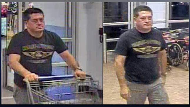 Surveillance images of theft suspect (Images: Cannon Beach PD)