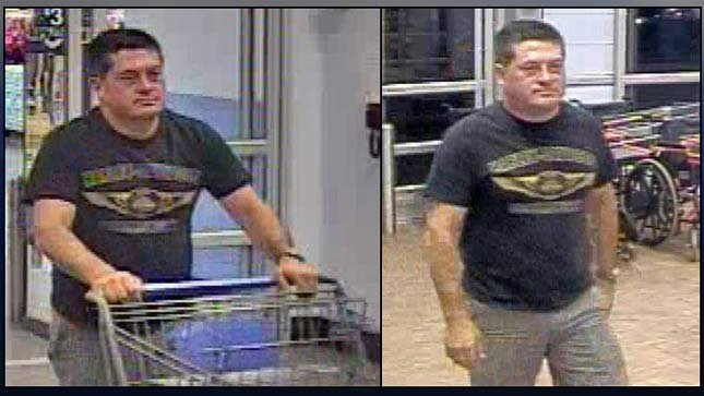 Surveillance images of theft suspect (Images: Cannon Beach PD)