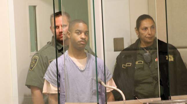 Tavon Dorsey-Hurtt in court Wednesday (Photo courtesy of Everton Bailey Jr., The Oregonian)