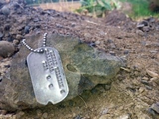 The military dog tags Jesse Baker recently found.