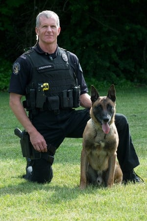 Officer Jack Anderson and K-9 Ike (Photo: Vancouver PD)