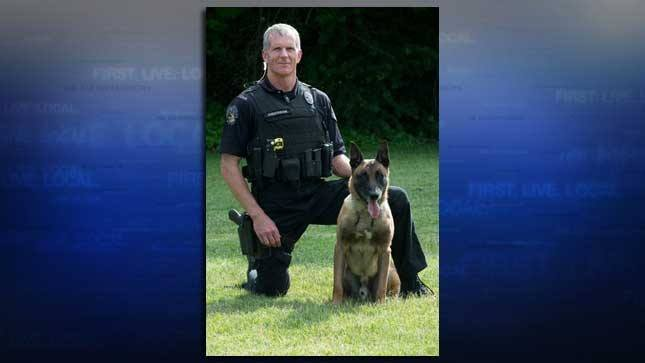 Officer Jack Anderson and K9 Ike
