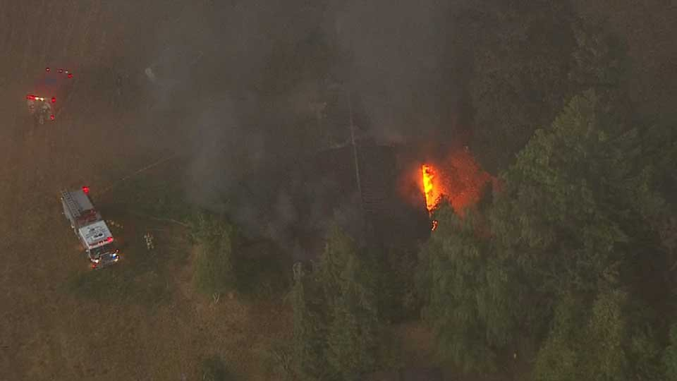 AIR 12 view of the fire