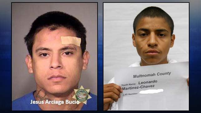 Jesus Bucio, Leonard Chavez, jail booking photos