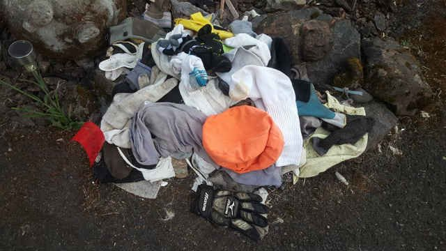 Pile of clothes that Tigger has gathered. (Photo: Dave Kempa)