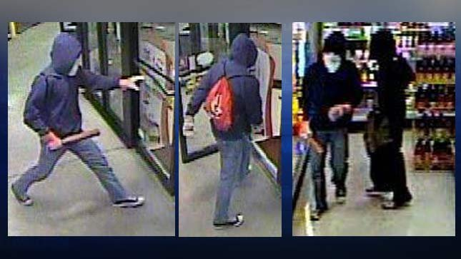 Surveillance image of Plaid Pantry robbery suspects