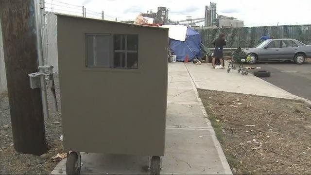 Small Personal Shelters : Washington group creates portable shelters for homeless