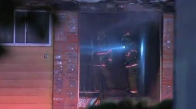 Scene of SE Portland apartment fire